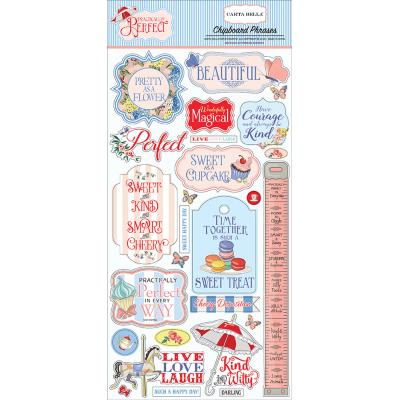 Carta Bella Practically Perfect - Chipboard Phrases