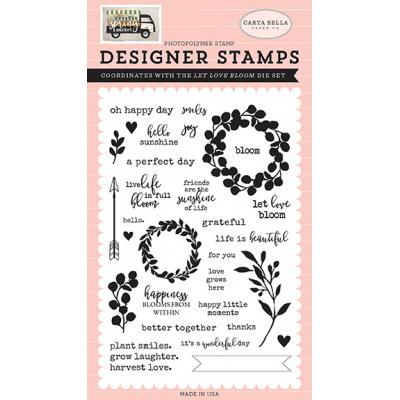 Carta Bella Clear Stamps Spring Market - Let Love Bloom