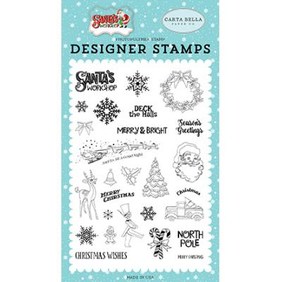 Carta Bella Clear Stamps Santa's Workshop - To All A Good Night