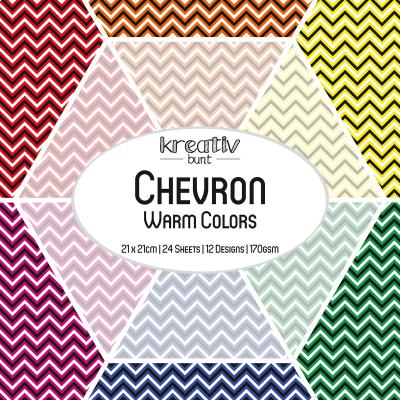 Paper Basics Motivpapier: Chevron - Warm Colors