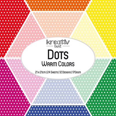 Paper Basics Motivpapier: Dots - Warm Colors
