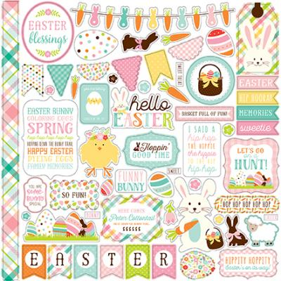 Echo Park Hello Easter Stickerbogen 12 x 12 Inch