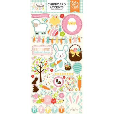 Echo Park Hello Easter Chipboard Embellishments 6 x 13 Inch
