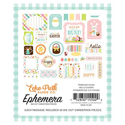 Echo Park Hello Easter Die-Cuts Ephemera Pack