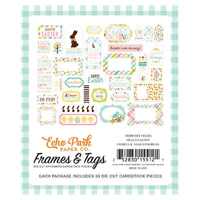 Echo Park Hello Easter Die-Cuts Frames & Tags Ephemera Pack