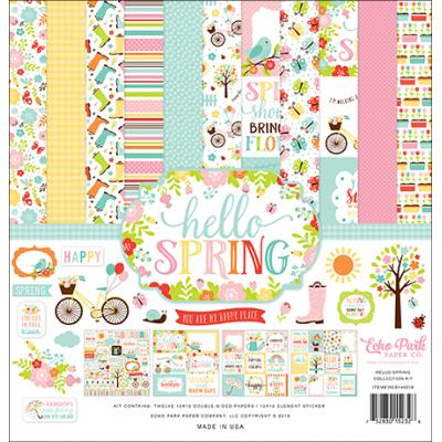 Echo Park Hello Spring Designpapier - Collection Kit