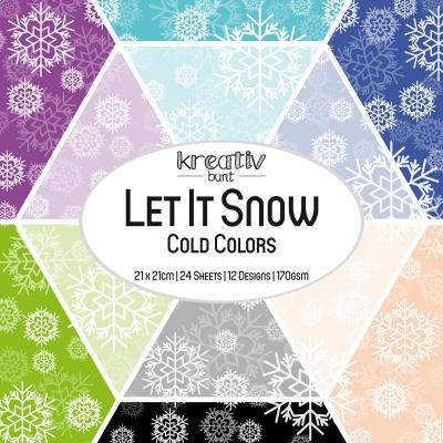 Paper Basics Motivpapier: Let It Snow - Cold Colors