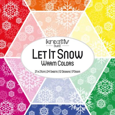 Paper Basics Motivpapier: Let It Snow - Warm Colors