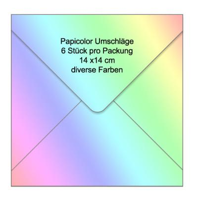 Papicolor Briefumschläge 14 x 14 - Square Envelopes