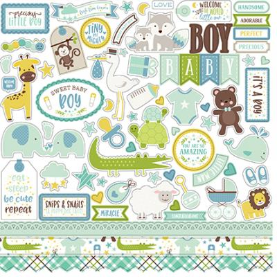 Echo Park Sweet Baby Boy Stickerbogen 12 x 12 Inch