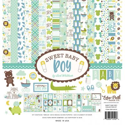 Echo Park Sweet Baby Boy Collection Kit 12 x 12 Inch