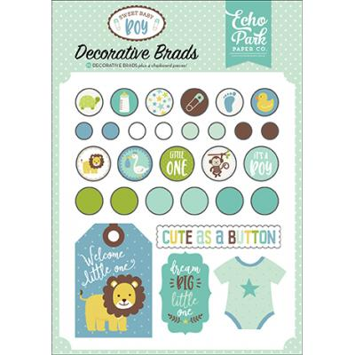 Echo Park Sweet Baby Boy Decorative Brads Embellishments