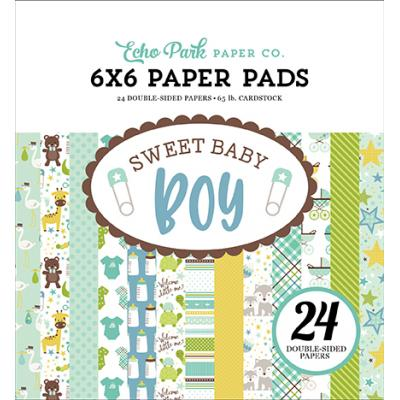 Echo Park Sweet Baby Boy Paper Pad 6 x 6 Inch