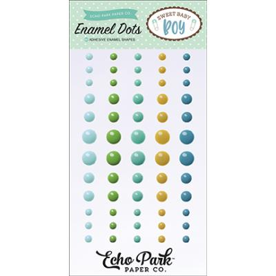 Echo Park Sweet Baby Boy Enamel Dots Embellishments