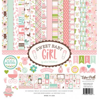 Echo Park Sweet Baby Girl Collection Kit 12 x 12 Inch