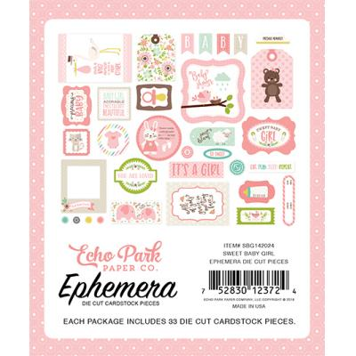 Echo Park Sweet Baby Girl Die-Cuts Ephemera Pack
