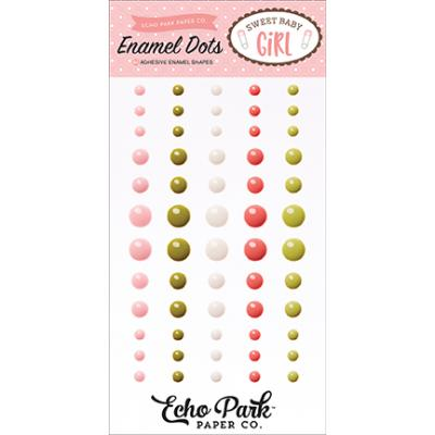 Echo Park Sweet Baby Girl Enamel Dots Embellishments