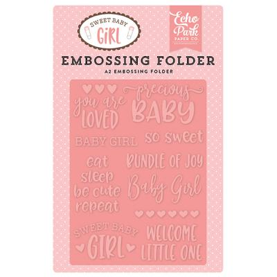 Echo Park Sweet Baby Girl Precious Baby Embossing Folder