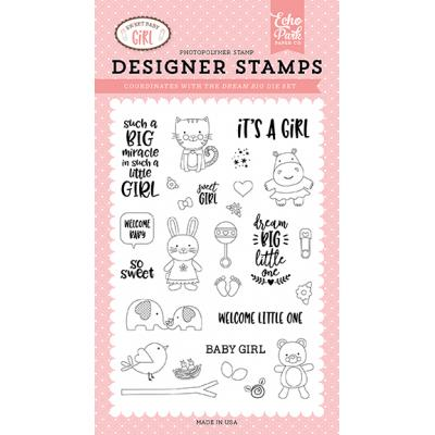 Echo Park Clear Stamps - Sweet Baby Girl Stempelset