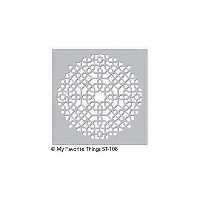 My Favorite Things Stencil Moroccan Mosaic Schablone
