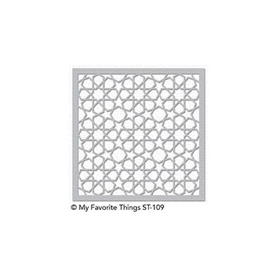 My Favorite Things Stencil Geometric Stars Schablone