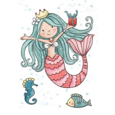 Wild Rose Studio`s A7 Stamp Set Mermaid Birthday