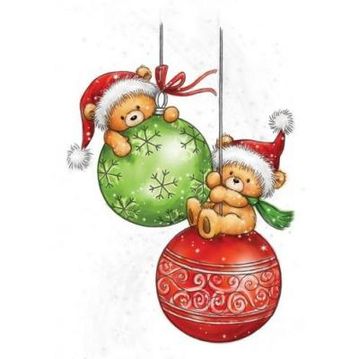 Wild Rose Studio`s A7 Stamp Set Teddy Baubles
